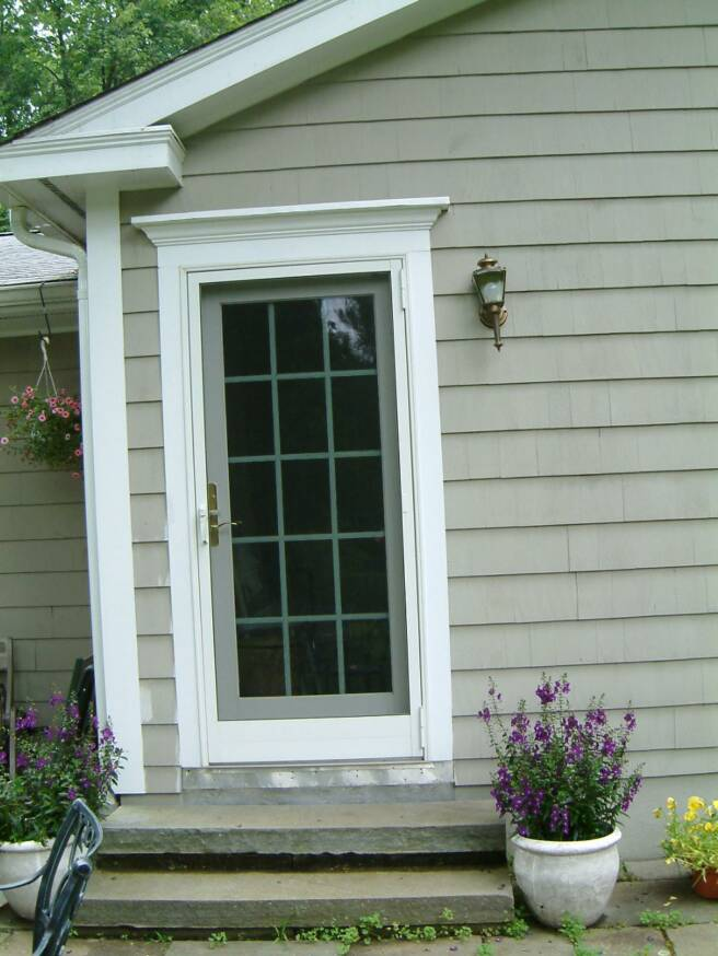 Anderson single french door with storm for French storm doors