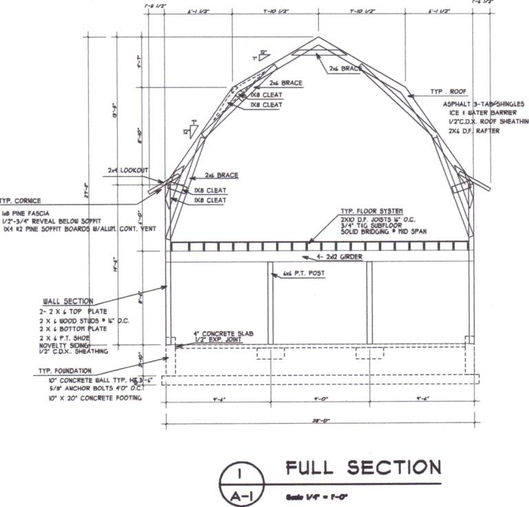 Gerry woodworkers pole barn plans with material list for Gambrel roof house plans